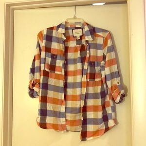 Madress plaid button down
